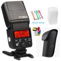 Godox TT350S 2.4G High-Speed Sync 1/8000s TTL GN36 Wireless Master Slave Speedlite Flash Light Compatible for Sony Mirrorless Digital Camera(TTL autoflash) with CONXTRUE LED USB