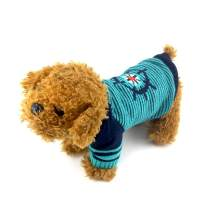 PETCARE Dog Ugly Sweater Long Sleeve Blue Striped Winter Warm Knit Clothes Fashion Boy Girl Dog Pullover Doggy Outfits for XXS XS Puppy Small Medium Dogs Cats