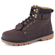 Leader Show Men's Work Leather Boots Classic High Top Safety Outdoor Boot Shoes