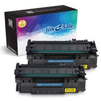 INK E-SALE Compatible Toner Cartridge Replacement for HP Q5949A 49A Q7553A 53A (Black, 2 Pack), for use with HP Laserjet 1320 1320n P2015dn P2015 P2015n 3390 3392 1160 P2014 M2727nf MFP Printer