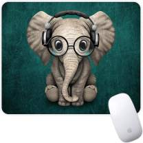 Marphe Mouse Pad Green Pattern Headset Music Panda Mousepad Non-Slip Rubber Gaming Mouse Pad Rectangle Mouse Pads for Computers Laptop