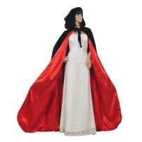 AW BRIDAL Adult Hooded Cloak Velvet Robe Cape for Halloween Cosplay Christmas Costumes Unisex