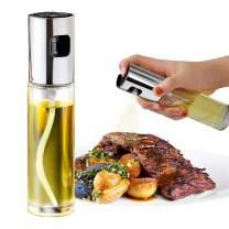 Oil Sprayer Dispenser,Olive Oil Sprayer,Spray Bottle for Oil Versatile Glass Spray Olive Oil Bottle for Cooking,Vinegar Bottle Glass,For Cooking, grilling, frying, salad (Silver)