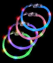 Fun Central 12 Pack - LED Light Up Braided Bracelets for Kids' & Adults' Party Accessories - Assorted Colors