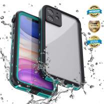 EFFUN iPhone 11 Waterproof Case, IP68 Waterproof Shockproof Dirtproof Snowproof Case with Floating Strap,with Built-in Screen Protector Clear Back Cover for iPhone 11 6.1 inch