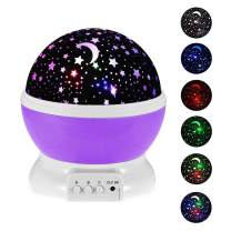 Kearui Toys for 2-7 Year Old Girls,Baby Night Light with Projector 360 Degree Rotation, 4 LED Bulbs 9 Light Color Changing USB Cable, Best Night Lights for Kids Adults and Nursery Decor