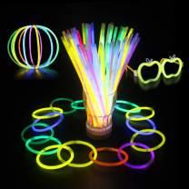 bangcool Glow Sticks b, 200 Pcs Colorful Glow Sticks Bulk Toys for Kids Decoration for Christmas Glow Sticks - Tons of Glow Necklaces, Glow Stick Bracelets Party Favors Pack (8 Colors Total 440 Pcs)