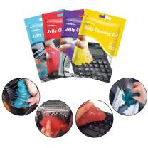 Visbella Jelly Dust Cleaning Putty Gel Slime Remove Dust, Dirt, Hair, Crumbs for Car Dashboard Crevices Electronics PC Laptop Keyboard Air Vent Instrument, Blue Red Purple Grape Yellow