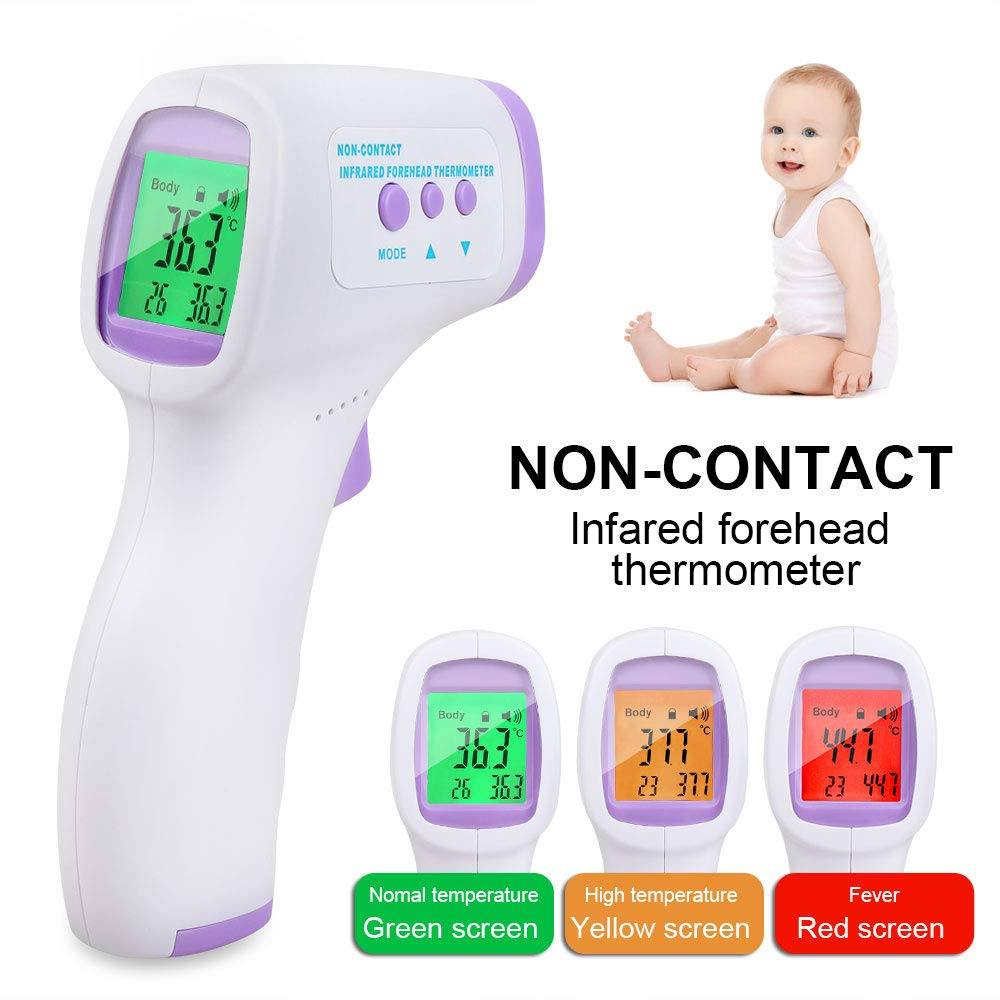 Forehead Thermometer, Non-Contact Medical Infrared Thermometer, Smart Sensor Gun for Baby and Adult - CE and FCC Approved(Transit time: 3-7 Days)
