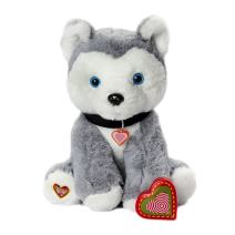 My Baby's Heartbeat Bear Furbaby's Recordable Stuffed Animals 20 sec Heart Voice Recorder for Ultrasounds and Sweet Messages Playback - Husky Dog