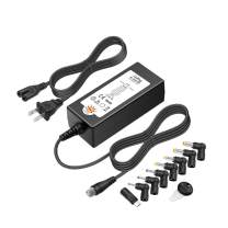 Outtag 45W Universal AC DC Adapter 5V 6V 7.5V 9V 12V 13.5V 15V Multi Voltage Switching Power Supply with 8 DC Tips for Router Speaker LCD CCTV IP Camera Medela Breast Bumps Tablets Smart Phones Scale