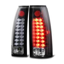 VIPMOTOZ Premium LED Tail Light Lamp For 1988-1999 Chevy GMC C/K 1500 2500 3500 Pickup - Matte Black Housing, Driver and Passenger Side