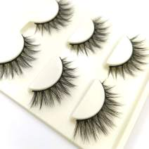 3D False Cotton Stalk Eye lashes Handmade Reusable Long Cross Makeup Natural 3D Fake Thick EyeLashes 6 Pairs(2-3D60)