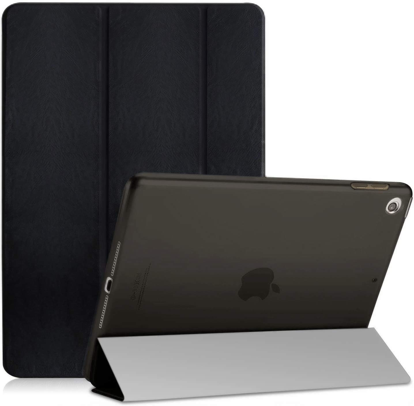 OKP iPad 10.2 Case 2019 iPad 7th Generation Case, Premium Leather Tablet Case with Soft TPU Back Shell for iPad 7th Gen 10.2 inch (A2197 A2198 A2200), Black