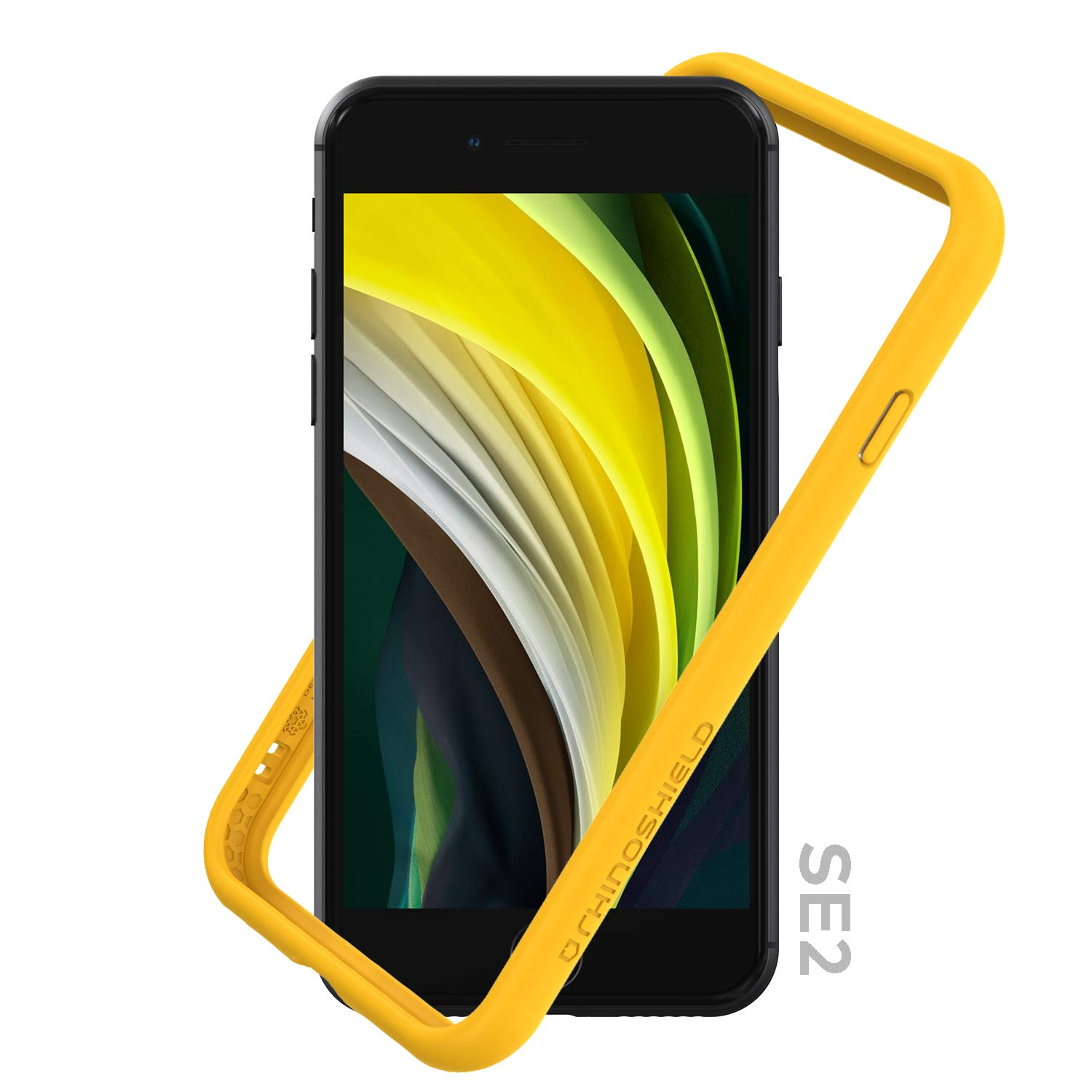 RhinoShield Bumper Compatible with [iPhone SE2 / SE (2020) / 8/7]   CrashGuard NX - Shock Absorbent Slim Design Protective Cover [3.5M / 11ft Drop Protection] - Yellow