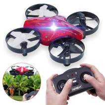 Fubosi Mini Drone RC Toys Nano Quadcopter Best Drone for Kids and Beginners RC Helicopter Plane Headless Mode 3 Speed with 3D Roll 4CH 6 Axis Altitude Hold Toy Gift for Boys Girls(Red)