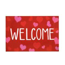 Valentine's Day Indoor Outdoor Welcome Doormat, Love Decorative Floor Mat Heart Pattern Entrance Carpet for Front Porch, Kitchen, Farmhouse, Entryway, Gift for Girlfriend/Boyfriend (40x60cm, Style F)