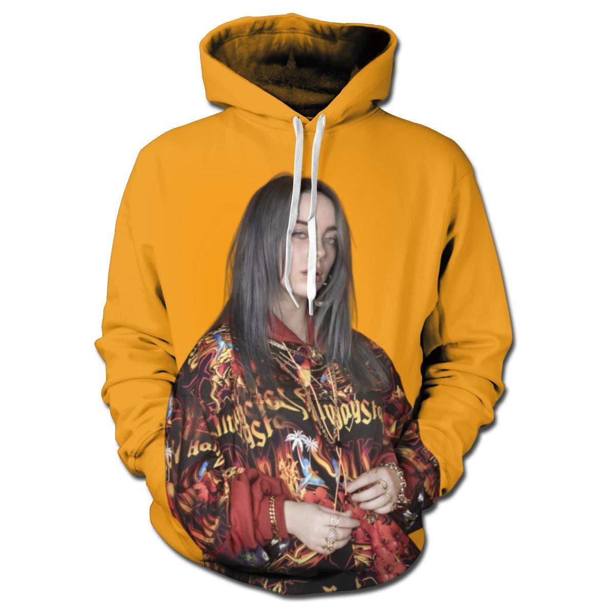 SHOEWPQIA Women's Billie Eilish 3D Print Pullover Hooded Sweatshirt Hoodies with Pockets