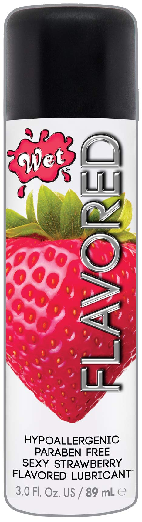 Wet Strawberry Flavored Lube - Water Based Edible Lubricant, 3.0 Ounce