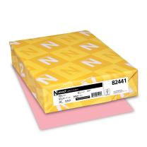 Wausau Vellum Bristol Cardstock, 67 lb, 8.5 x 11 Inches, Pastel Pink, 250 Sheets (82441)