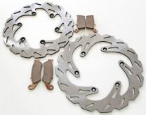 Brake Rotors Discs and Brake Pads fits Yamaha YZ426F 2001 - Front and Rear RipTide