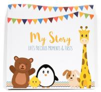 First Year Baby Memory Book & Baby Journal (3 Color Styles Available). Perfect for Boys or Girls Baby Shower Gift. First 5 Years Scrapbook, Keepsake & Photo Journal. Unisex, Little Animals