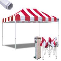 Eurmax 10x15 Ft Premium Ez Pop up Canopy Instant Canopies Shelter Outdoor Party Gazebo Commercial Grade Bonus Roller Bag (Carnival Red)