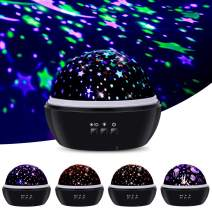 TekHome Gifts Toys for 1 2 3 4 5 6 7 8 Year Old Kids Boys Girls Toddlers, 2020 New Star Projection Projector Night Light for Kids, First Time New Mom Gifts Ideas, Black.