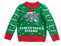 Christmas Shark Doo Doo Doo Ugly Christmas Sweater Toddler Kids Sweater