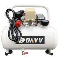 HPDAVV Oil-Less Portable Air Compressor - 110V/650W/6.5A - 4cfm @ 125psi - 2Gal Tank - 36lbs Light Weight - 56dB Ultra Quiet Garage Tool