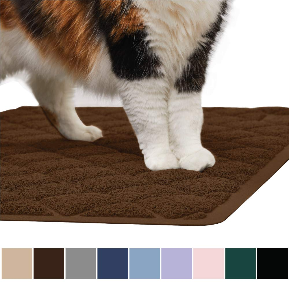 Gorilla Grip Original Premium Durable Cat Litter Mat, XL Jumbo, No Phthalate, Water Resistant, Traps Litter from Box and Cats, Scatter Control, Mats Soft on Kitty Paws, Easy Clean Mats