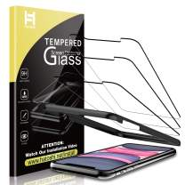 HATOSHI (3 Pack) Screen Protector for iPhone 11 and iPhone XR Tempered Glass - Alignment Tray Easy Installation [Case Friendly] HD Clarity 9H Glass Screen Protector (6.1'')