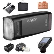 Godox AD200Pro and Xpro-S Trigger Set, 200Ws Strobe Flash, 1/8000 HSS, 500 Full Power Flashes, 0.01-1.8s Recycling, 2900mAh Battery, Bare Bulb/Speedlite, Compatible with Sony DSLR