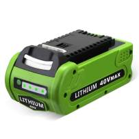 40V 29472 Lithium Battery Compatible with GreenWorks 3000 mAh Battery for G-MAX Power Tools 29252 20202 22262 2531225322 20642 22272 27062 21242(Not for Gen 1