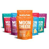 Moon Cheese, 10 Pack, Assortment (Cheddar, Gouda, Pepper Jack, Bacon Cheddar, Garlic Parmesan), 100% Cheese and Gluten Free, 2 OZ