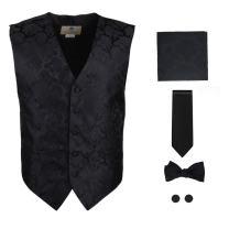 Y&G Men's Fashion Groom Pattern Mens Vest Tie Bowtie Cufflinks Hanky Best Gifts