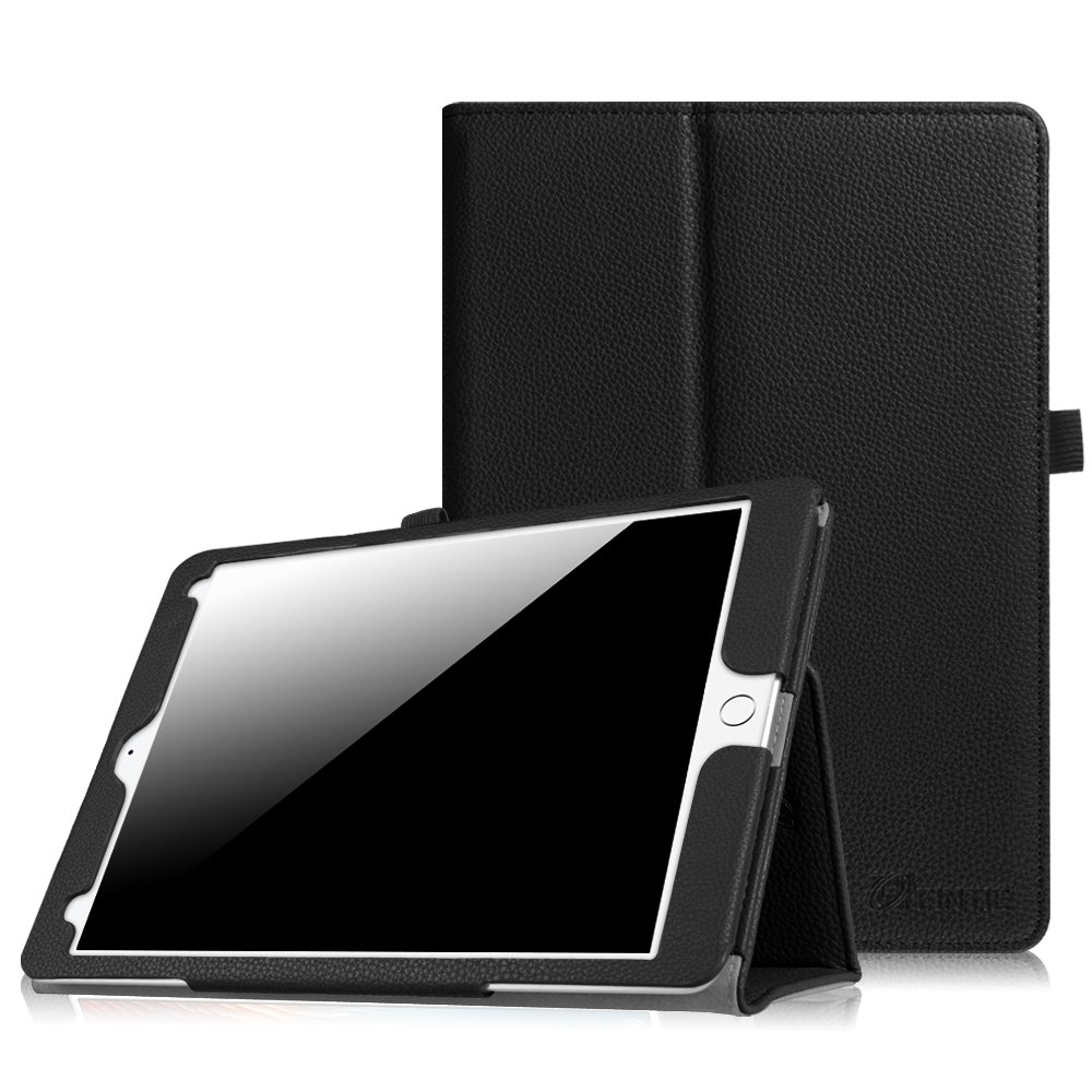 Fintie Case for iPad Pro 9.7 Case, Premium Vegan Leather Folio [Slim Fit] Standing Smart Protective Cover with Auto Sleep/Wake Feature for iPad Pro 9.7 Inch 2016 Release Tablet, Black