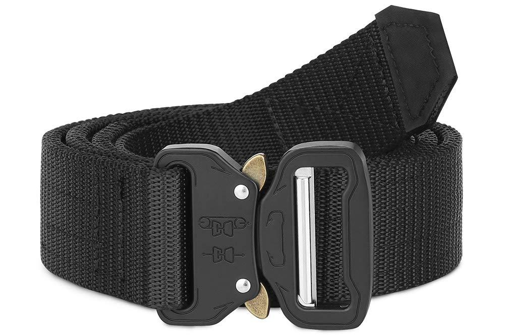 KRYDEX Tactical Riggers Belt,1.5 Inch Quick-Release Quick Release Heavy Duty Tactical Belt Black