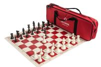US Chess Federation Supreme Triple Weighted Chess Set Combo - Red