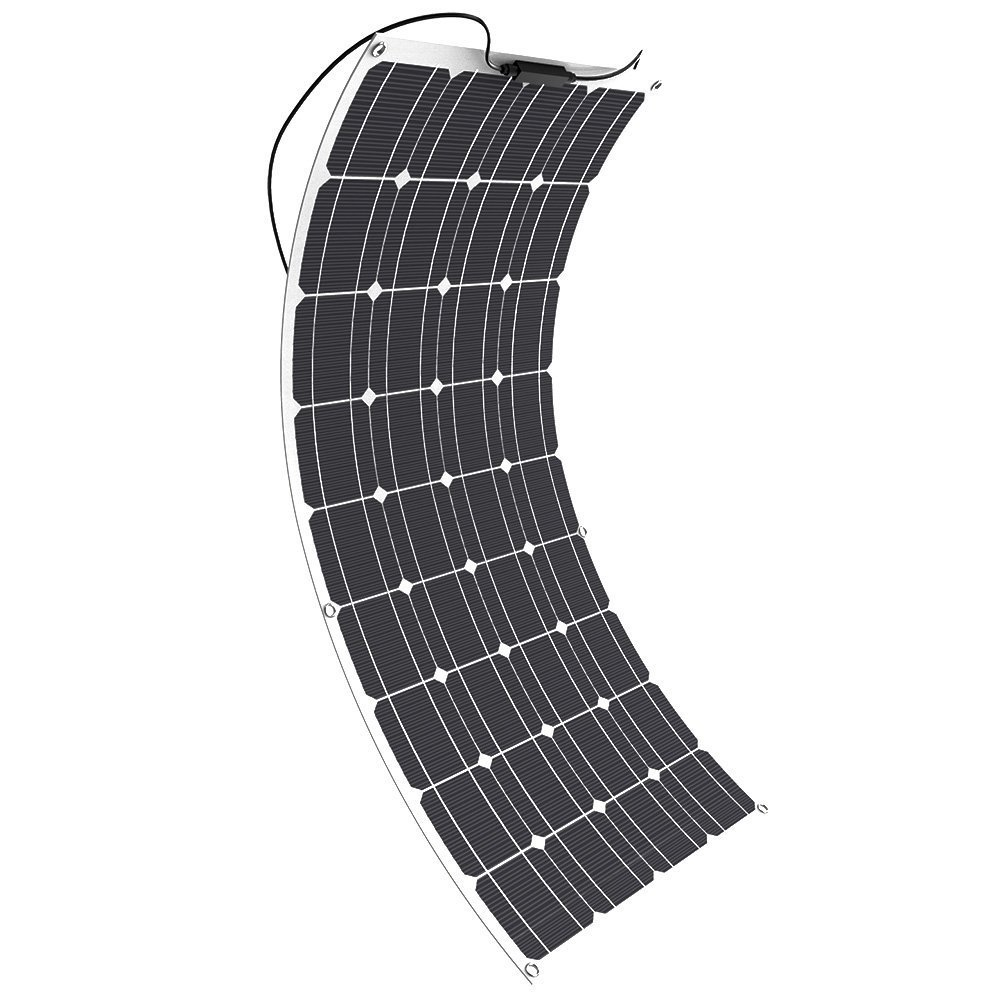 Solar Panel, GIARIDE 18V 12V 100W High-Efficiency Monocrystalline Solar Cell Flexible Bendable Off-Grid Solar Panel Charger for 12 Volt Battery, RV, Boat, Car, Motorcycle, Camping