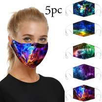 5PC Made in USA Face Màsc Bandanas Cotton, Washable and Repeatable Cotton Protective Anti-Dust Facial Scarf, Thin Breathable Double Layer, Face Health Protection for Dust,Pollen,Crowded Places (5PC B)