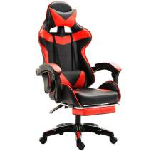DNYSYSJ Gaming Chair-Ergonomic Gaming Chair-Adjustable Racing Recliner Office Computer Desk Seat-High Back Computer Chair-Lumbar Support for Home or Office Use (Red)