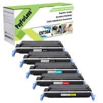 PayForLess Compatible 645A C9730A C9731A C9732A C9733A Toner Cartridge 5PK for HP Color Laserjet 5500 5500DN 5500DTN 5550N Printers