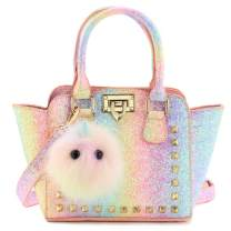 Mibasies Kids Purse for Little Girls Toddlers Rainbow Small Crossbody Handbag