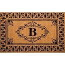 """nuLOOM Natura Collection Natural Fibers Novelty Outdoor Machine Made Area Rug, 2' 6"""" by 4', Letter B"""