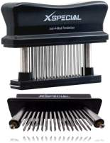 XSpecial Meat Tenderizer Tool 48-Blades Stainless Steel   Easy To Use & Clean - Turn Tough & Hard Meats Into Tender Buttery Goodness   No More Hammer Or Mallet Pounding   100% Hassle-Free Guarantee!