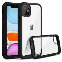 Jelanry Heavy Duty Armor for iPhone 11 Case 2-Layer Full Body Protective Shell Shockproof Sports Anti-Scratch Non-Slip Bumper Rugged Cover Hybrid Case for iPhone 11 6.1 inch Black