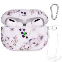 Airpods Pro Case - VIGOSS Glossy Airpod 3 Case Shockproof AirPods Pro Case Cover for Airpods Pro (Front LED Visible) Protective Set Skin Hard Case Blueberry