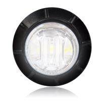 """Maxxima M09300WCL White 3/4"""" Round LED Clear Lens Courtesy Marker Light"""