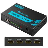 Tolmnnts HDMI Splitter 1 In 4 Out Powered by AC Adapter, Supports 4K@30Hz 3D Full HD1080P, Compatible with Xbox PS3 PS4 Fire Stick Roku Blu-Ray Player HDTV - 1 Input To 4 Outputs